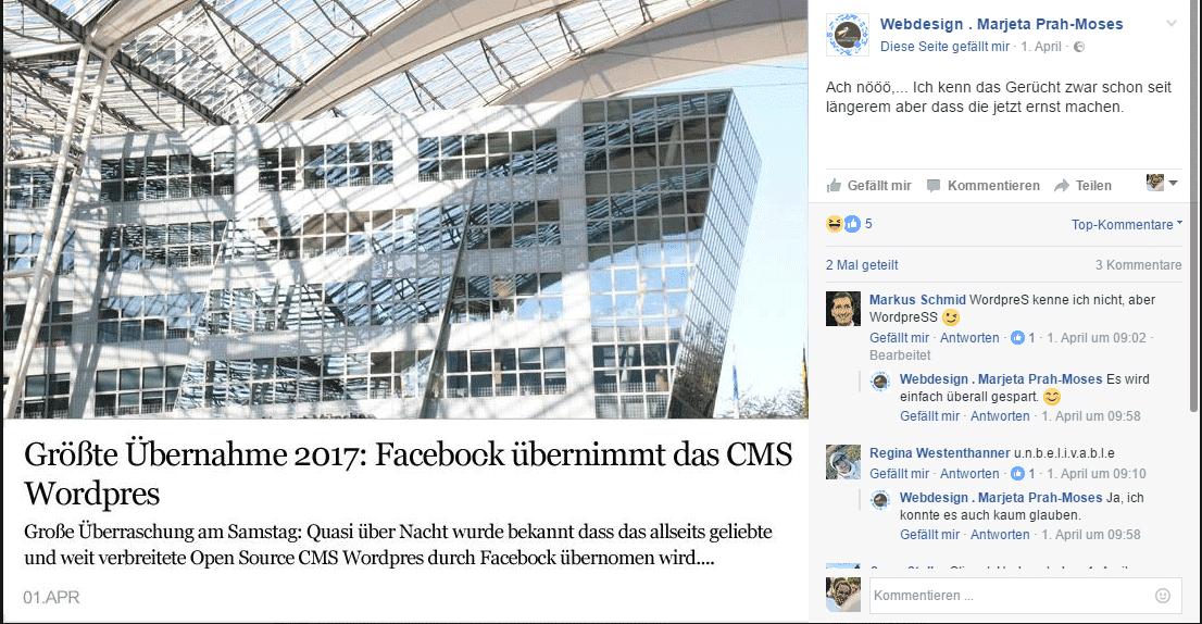 Facebook übernimmt Wordpres