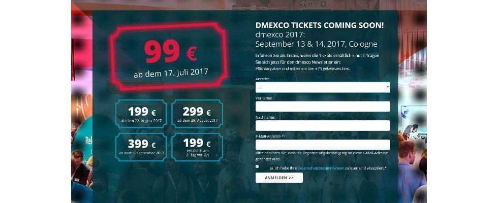 Keine kostenlosen Tickets mehr: dmexco bittet alle Besucher zur Kasse