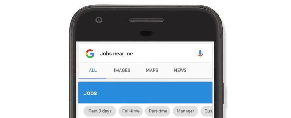 Google deinen neuen Arbeitsplatz: Google Jobs wird zur zentralen Jobbörse