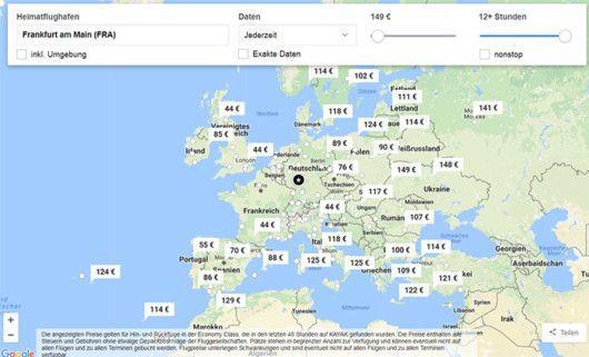 datenbasiertes interaktives Abfragetool