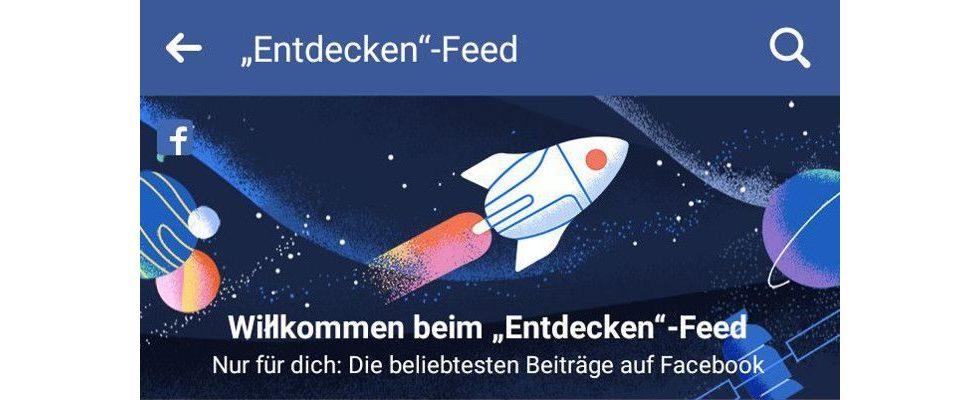 """Neuer Facebook-Feed: """"Entdecken"""" zeigt dir interessante Inhalte"""
