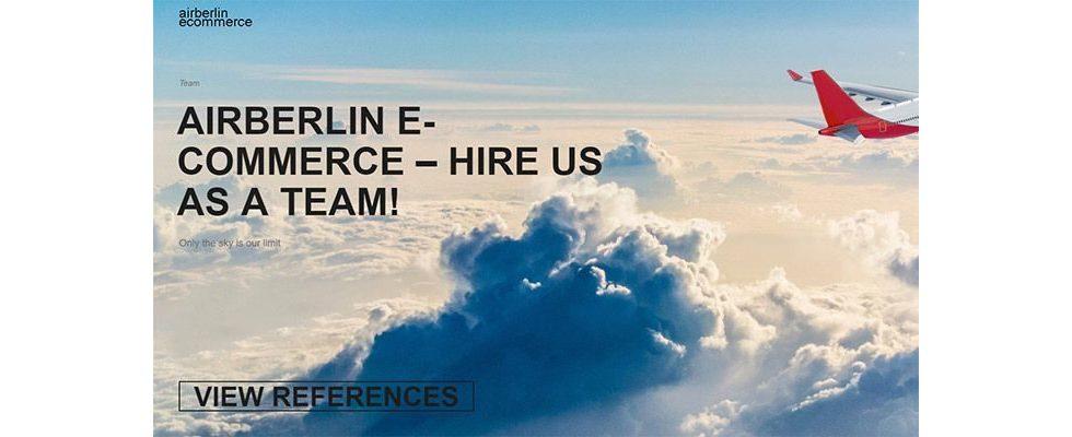 #HireUsAsATeam – Das komplette Air Berlin E-Commerce Team sucht einen Job