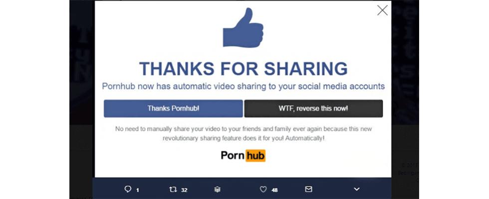 Warum haben Pornoseiten Social Sharing Buttons?