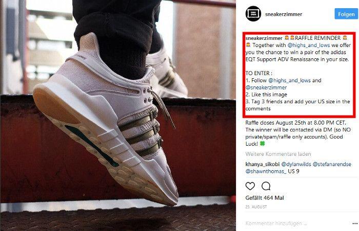 gewinnspiel bei sneakerzimmer c instagram