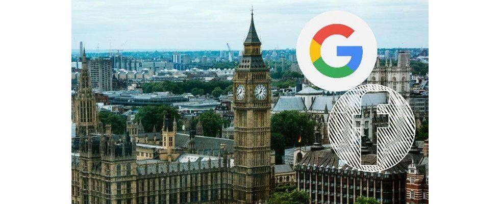 Google und Facebook als Publisher – UK will mehr Verantwortung für verbreiteten Content