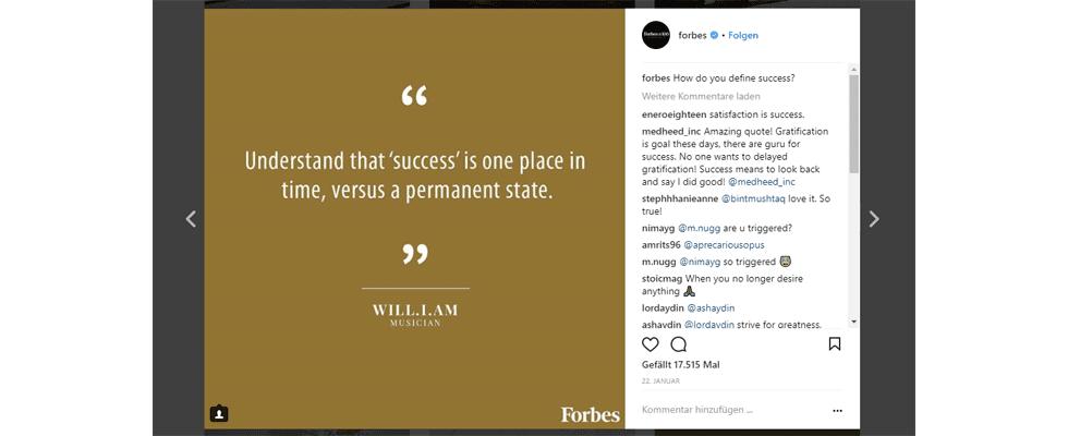 Höhere Engagement Rates auf Instagram: Publisher setzen auf Text-Posts