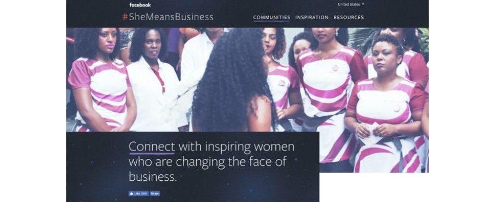 #SheMeansBusiness: Facebooks Programm führt neues Tool ein