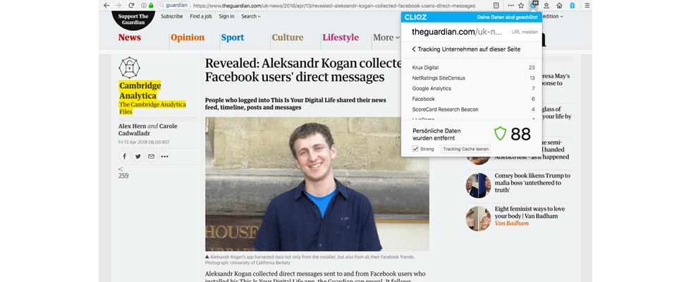 Nach dem Cambridge-Analytica-Skandal: Haben Nachrichtenmedien Facebook-Tracker von den Websites entfernt?