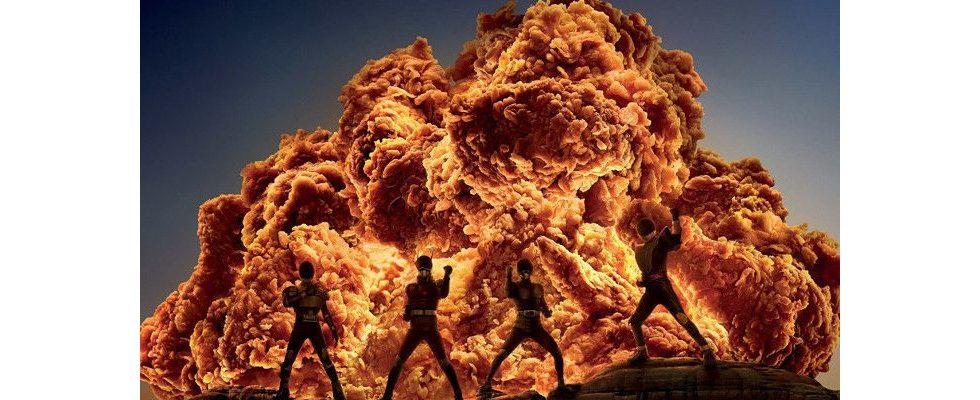 Optische Täuschung: KFC wirbt mit Explosionen aus frittiertem Hähnchen