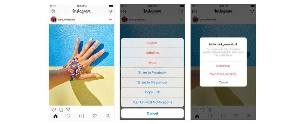 Mute: Du kannst auf Instagram bald Freunde stumm schalten