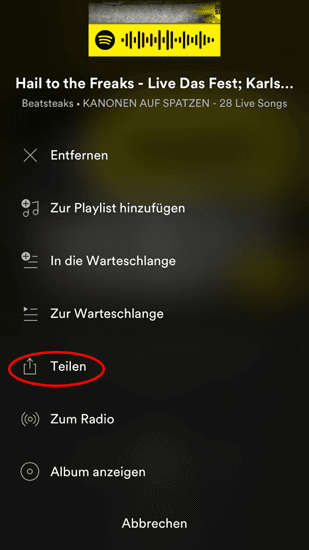 Spotify lieder aus playlist entfernen