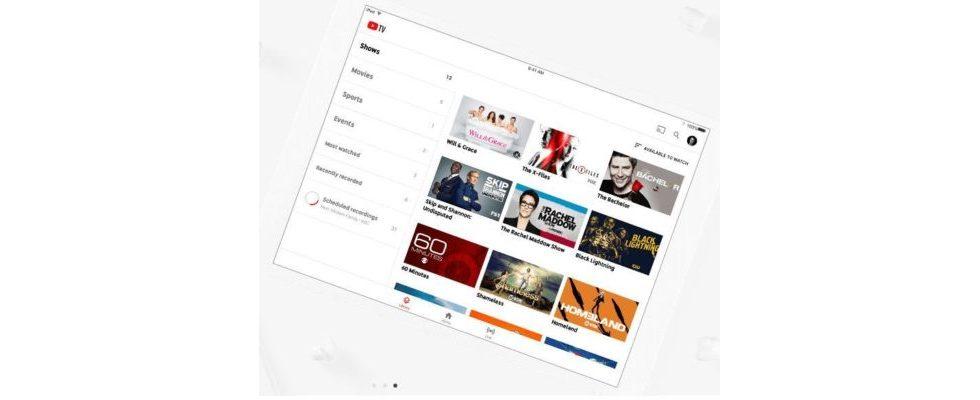 YouTube verkauft Ads in seinem Live TV-Service