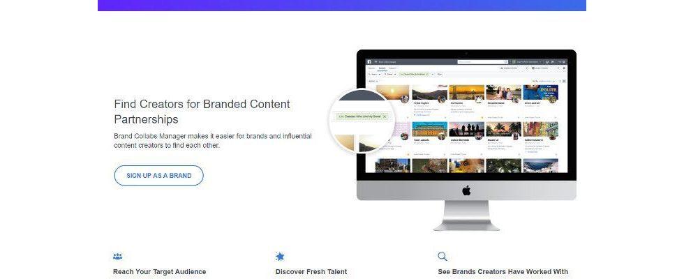 """Facebook """"Brand Collabs Manager"""": Tool soll Influencer an Firmen vermitteln"""
