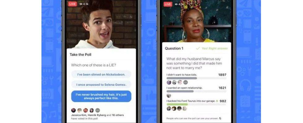 Facebook macht Videos interaktiv: Abstimmungen und Spiele als neue Features