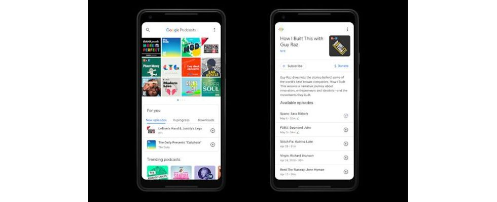 Google bringt eigene Podcasts App