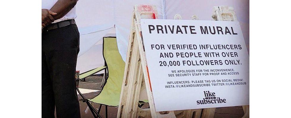 Fotos erst ab 20.000 Follower erlaubt: Selfie-Spot in Los Angeles von Security bewacht