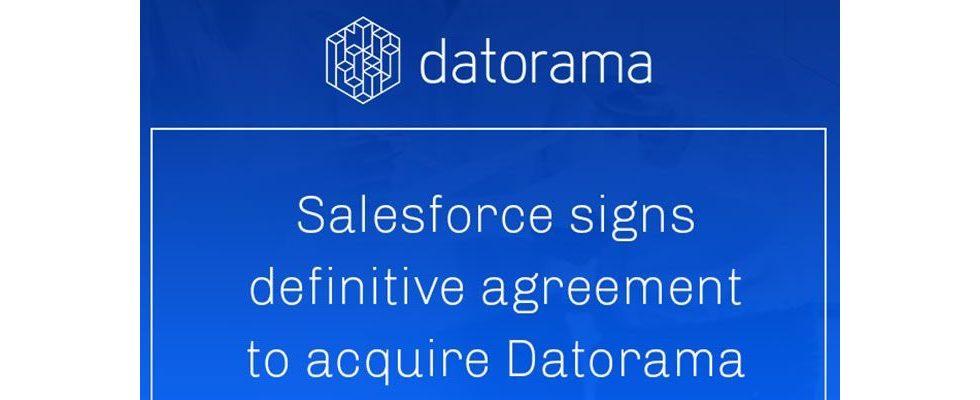 Salesforce zeichnet finale Absichtserklärung für die Akquise von Datorama
