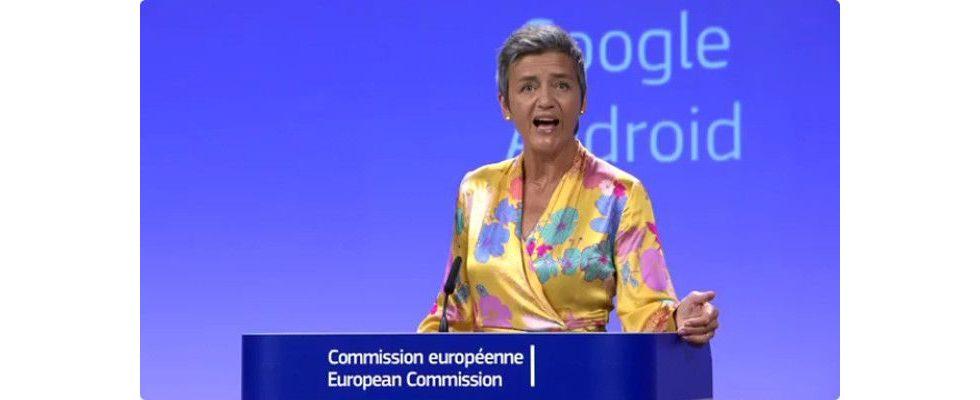 4,3 Milliarden Euro Strafe für Google von der EU verhängt