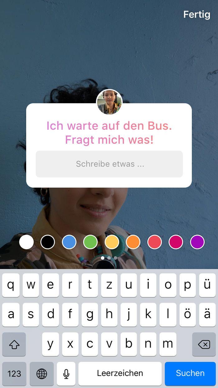 Instagram Update: Fragen-Sticker für die Stories jetzt für ...