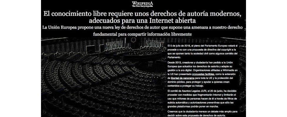 EU-Parlament stoppt Urheberrechtsreform – Wikipedias Protest zeigt die Alternative