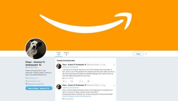 Skurrile Amazon-Botschafter propagieren faire Arbeitsbedingungen via Twitter