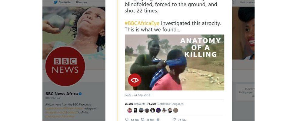 Beeindruckender Journalismus auf Twitter: BBC legt Bericht über Hinrichtungen offen und geht viral