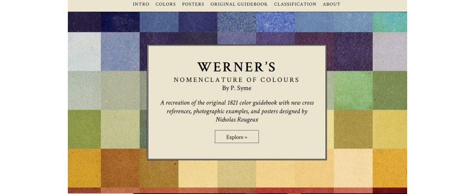 Ein Traum für Webdesigner: Altes Naturfarben-Handbuch digital aufbereitet