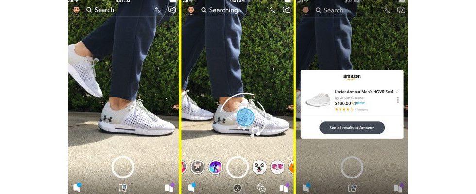Snapchat und Amazon kooperieren über Visual Search in der App