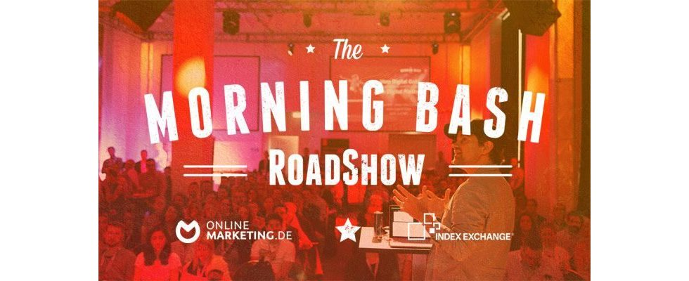 The Morning Bash Roadshow: Programmatic Advertising an 3 Tagen in 3 Städten