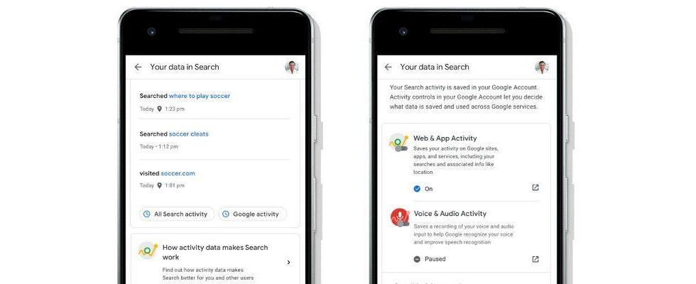 Google Update: Vereinfachtes Datenmanagement direkt aus der Suche