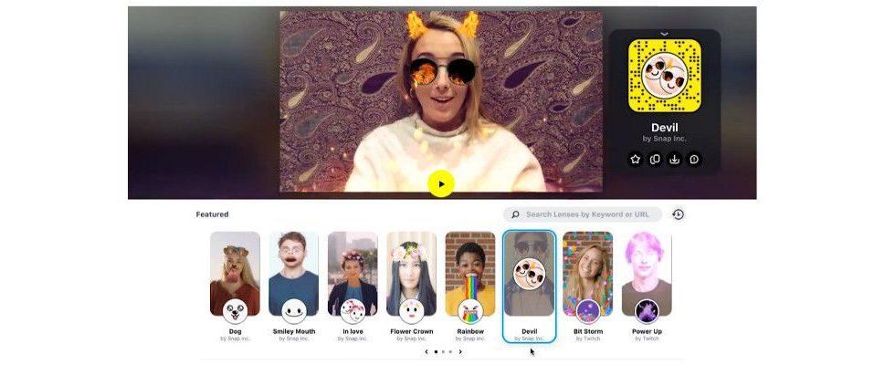 Snapchat bringt Filter auf Desktop und zu Twitch