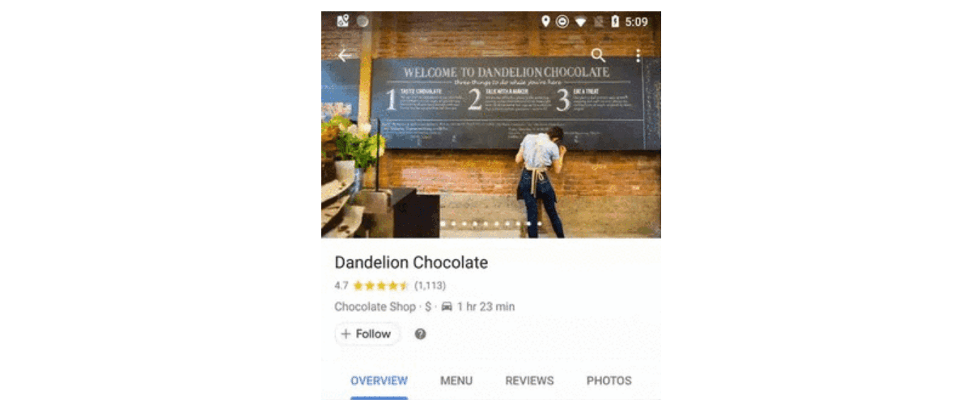 Google Maps Update: Lieblingsunternehmen folgen wie bei Facebook