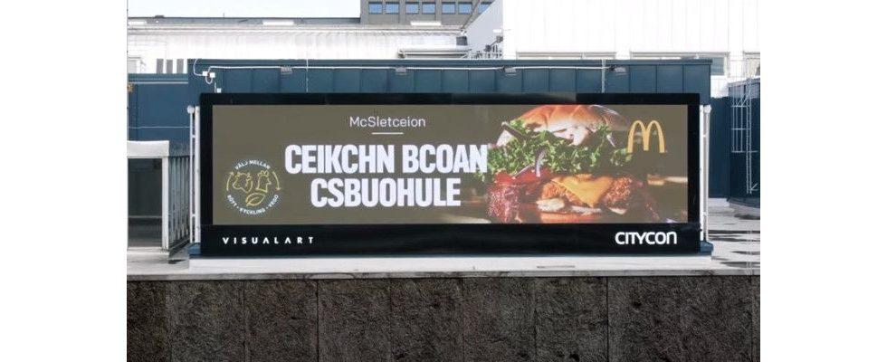 Ceikchn Bcoan Csbuohule gefällig? McDonald's kreativer Legasthenie-Stunt