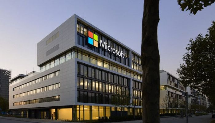 Microsoft-Zentrale in Schwabing zu sehen