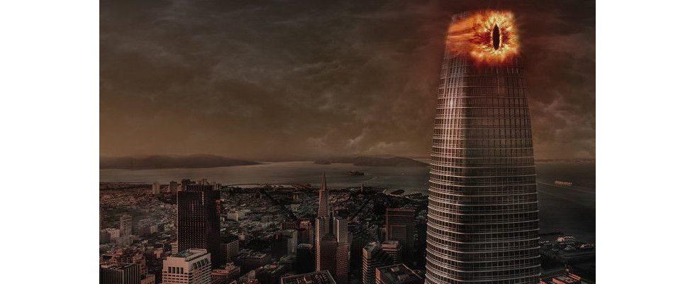 Salesforce Tower trifft Mittelerde: Das Auge Saurons über San Francisco