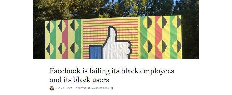 Ex-Manager von Facebook prangert rassistische Praktiken beim Unternehmen an