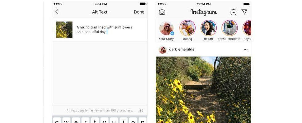 Instagram optimiert Visuals für Sehbeeinträchtigte