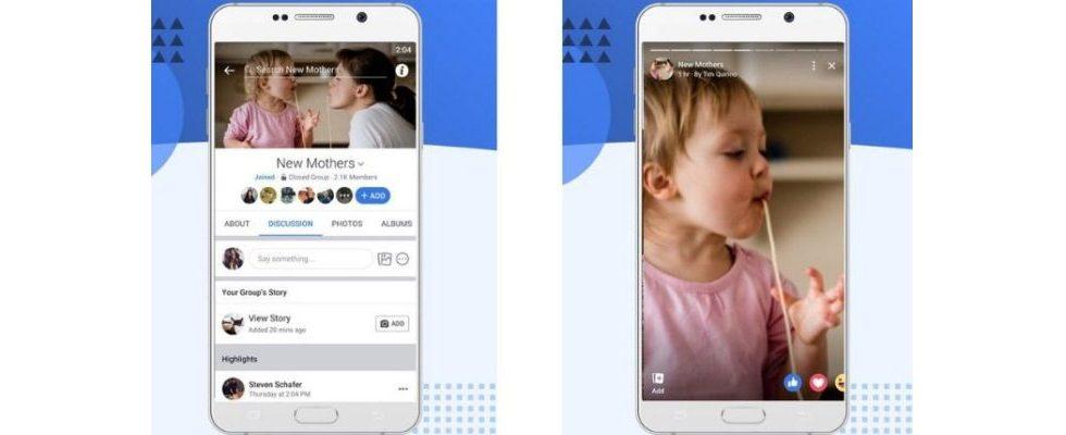 Facebook bringt Stories jetzt auch in die Gruppen