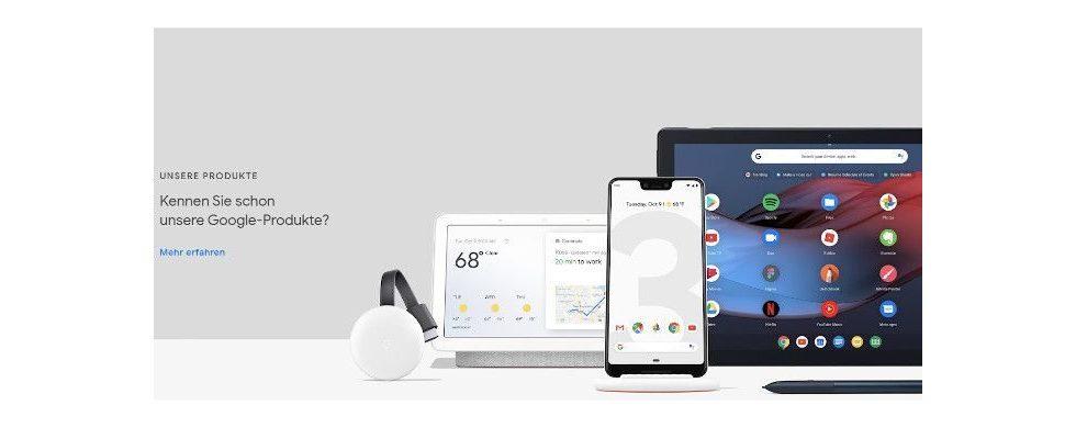Test für Einkunftszuwachs? Google überarbeitet Startseite – samt Store