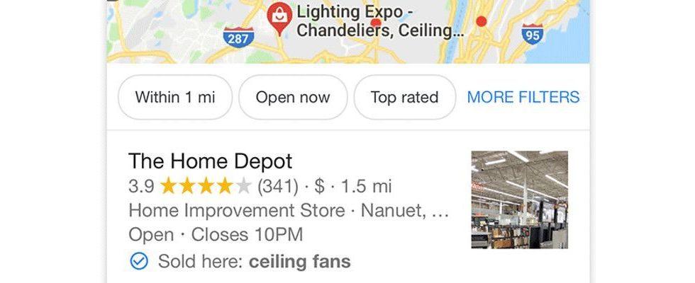 Google experimentiert mit Sold Here Tag für die Local Packs