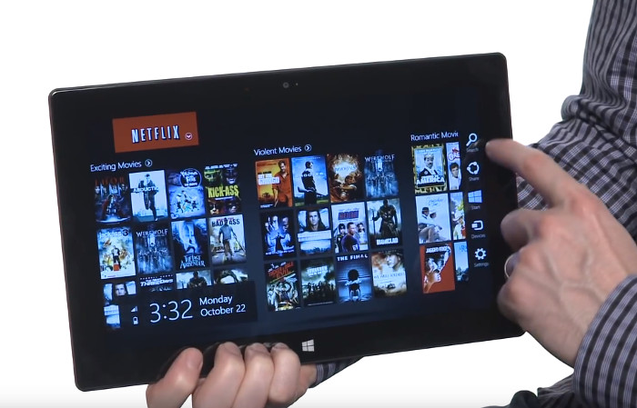 Netflix App auf einem Tablet, Screenshot YouTube, © Netflix