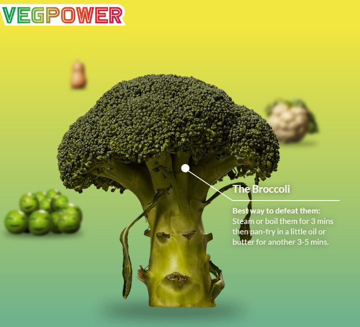 Broccoli und Zubereitungstipps bei VEG POWER, © VEG POWER