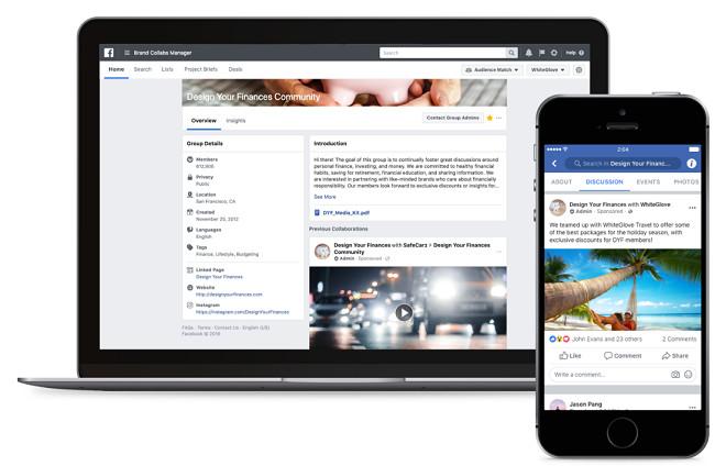 Laptop und Smartphone mit Facebook Gruppen