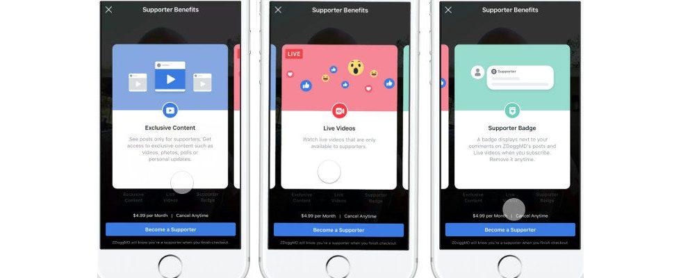 Facebook möchte bis zu 30 Prozent der Einnahmen über Fan-Abonnements – und Lizenzen für die Inhalte