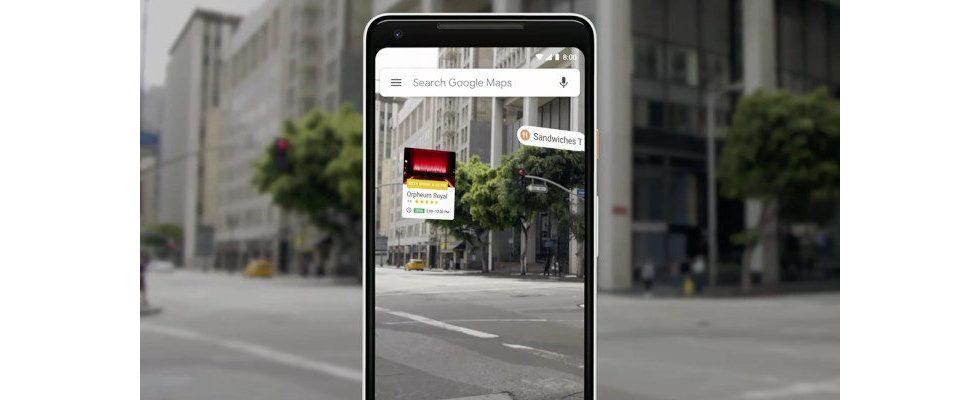 Google Maps AR-Navigation kommt in die Betaphase