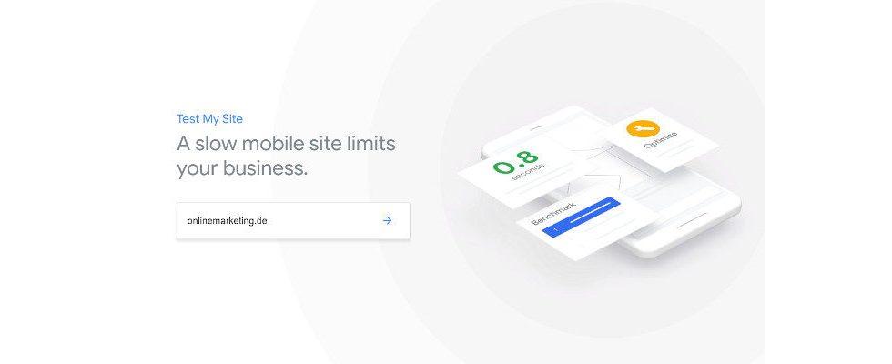 """Google bringt neue Version für Mobile Page Speed Tool """"Test My Site"""""""