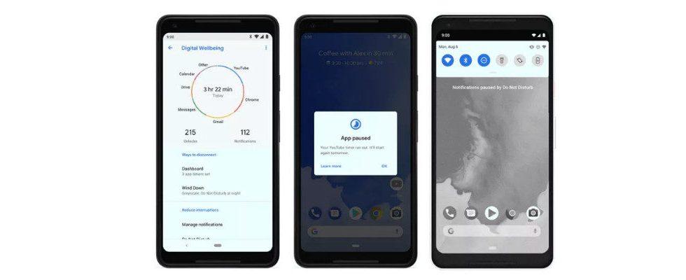 Google bringt Assistant Button und Wellbeing Tools auf mehr Geräte