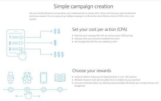 Grafik Amazon Moments-Kampagne