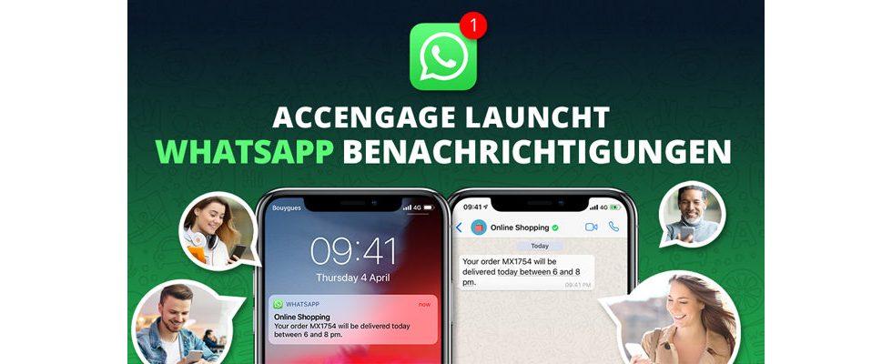 Accengage ermöglicht Unternehmen persönlichen Kundenkontakt über WhatsApp