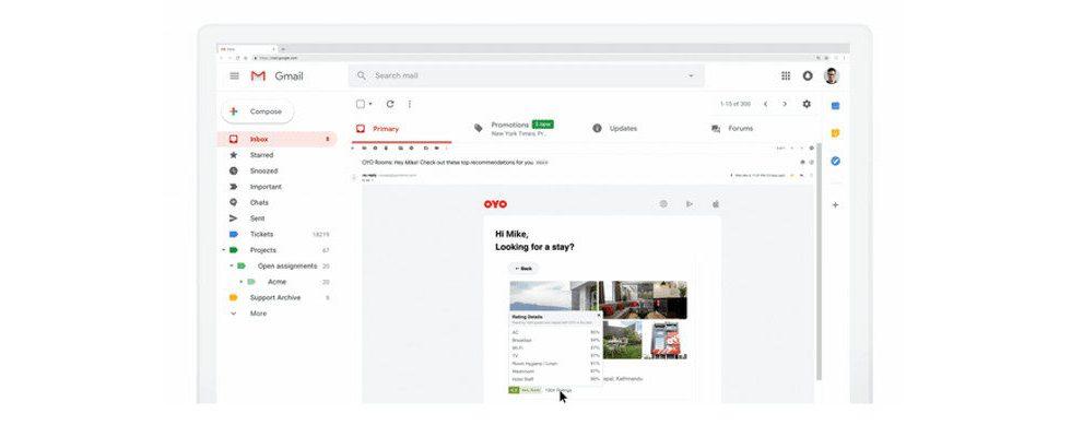 Google erlaubt mit Dynamic E-Mail interaktive Bearbeitung in Gmail
